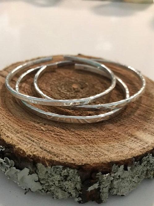 Fine Silver Bangle Cuffs (3)