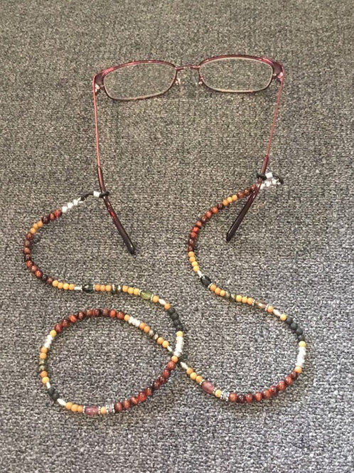 OOAK Gemstone and Sterling Silver Lanyard Necklace