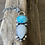 Thumbnail: Turquoise,  Fine/Sterling Silver Pendant with Moonstone and Topaz Accents