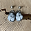 Thumbnail: White Buffalo and Fine/Sterling Silver Post Earrings