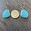 Thumbnail: Kingman Turquoise and Brushed Fine/Sterling Silver Earrings