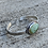 Thumbnail: Natural Pilot Mountain Turquoise and Fine|Sterling Silver Cuff