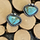 Thumbnail: Kingman Turquoise and Oxidized Fine/Sterling Silver Post Earrings