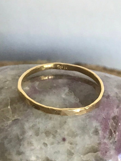 18k SOLID Gold Stacker Rings - Size 7.5