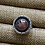 Thumbnail: Gemmy Rhodochrosite and Fine/Sterling Silver Shadowbox Ring (size 6)