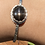 Thumbnail: Black Star Sunstone and Fine/Sterling Silver Bangle Cuff
