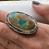 Thumbnail: Royston Ribbon Turquoise and Sterling Silver Ring (size 6.75)