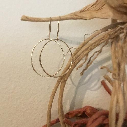 14k SOLID Gold Oval Hoop Earrings