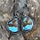 Thumbnail: Kingman Turquoise and Oxidized Fine/Sterling Silver Earrings