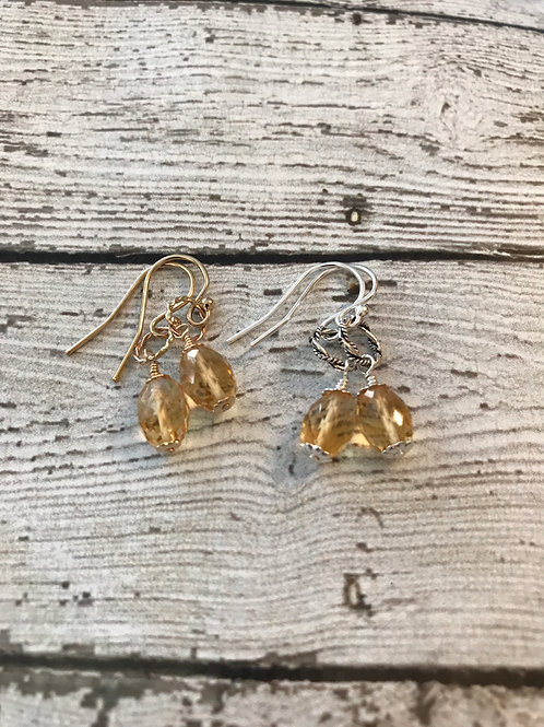 Citrine and 14k Gold Fill Earrings
