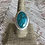 Thumbnail: Morenci Turquoise and Fine/Sterling Silver Ring (size 8.75)