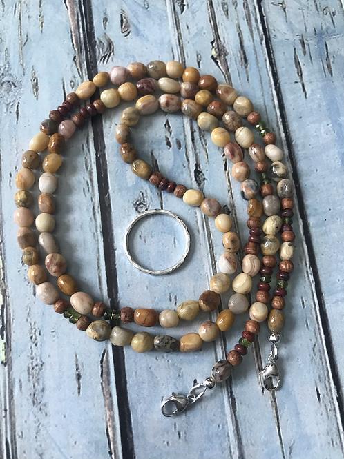 """OOAK """"Abundance"""" 3-in-1 Gemstone Eyeglass Chain/Lanyard/Necklace"""
