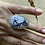 Thumbnail: Tiffany Stone and Brushed Fine/Sterling Silver Ring (size 6.25)