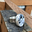 Thumbnail: White Buffalo and Fine/Sterling Silver Ring (size 7.5)
