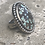 Thumbnail: Spotted Zeus Variscite and Fine/Sterling Silver Ring (size 6.25)