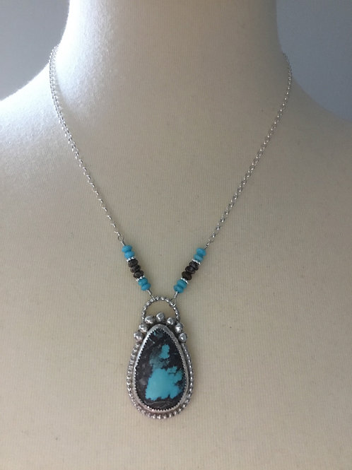 Bisbee Turquoise & Sterling Silver Necklace with Nacozari and Wildhorse Accents
