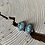 Thumbnail: Kingman Turquoise and Oxidized Fine/Sterling Post Earrings
