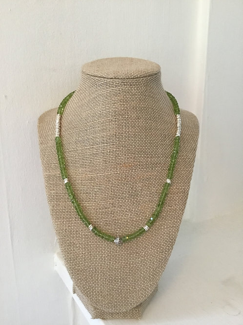 Peridot and Fine Silver Necklace