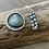 Thumbnail: Natural Aquamarine and Fine/Sterling Silver Shadowbox Pendant with Opal Accents