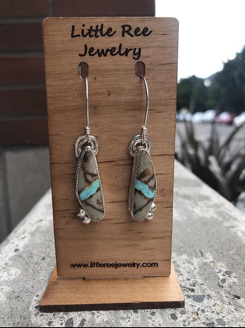 Royston Ribbon and Fine/Sterling Silver Earrings