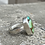 Thumbnail: Minimalist Sonora Peak Turquoise and Fine/Sterling Silver Ring (size 7.5)