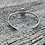 Thumbnail: Mexican Cantera Fire Opal and Fine/Sterling Silver Bangle Cuff