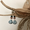 Thumbnail: AAA Larimar, Spiny Oyster Shell, Turquoise & Hammered 14k SOLID Gold Earrings