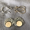 Thumbnail: Oxidized Sterling Silver and 14k SOLID Gold Earrings