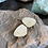 Thumbnail: White Plume Agate and Oxidized Fine/Sterling Silver Earrings