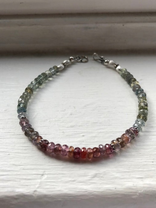 Songea Sapphire and Sterling Silver Bracelet