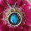 Thumbnail: Morenci Turquoise and Fine/Sterling Silver Shadowbox Pendant