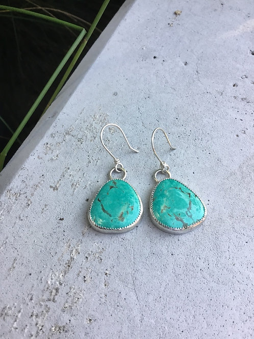 Tyrone Turquoise and Fine/Sterling Silver Earrings