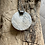 Thumbnail: White Buffalo and Oxidized Fine/Sterling Silver Pendant with Gaspeite Accents