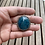 Thumbnail: Chatoyant Natural Blue Apatite and Fine/Sterling Silver Ring (size 9ish)