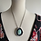 Thumbnail: Fox Turquoise and Fine/Sterling Silver  Pendant with 18k SOLID Gold Accents