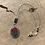 Thumbnail: Sonoran Sunrise and Fine/Sterling Silver Necklace Pendant with Onyx Accents