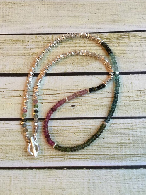Tourmaline and Fine Silver Necklace