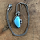 Thumbnail: Sleeping Beauty Turquoise and Oxidized Fine/Sterling Silver Pendant Necklace