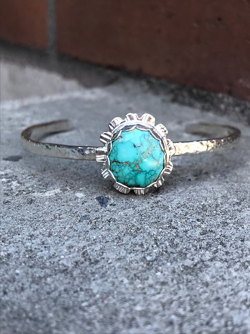 Carico Lake Turquoise and Fine/Sterling Silver Cuff