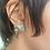 Thumbnail: Minimalist Kingman Turquoise and BrushedFine/Sterling Silver Post Earrings