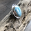 Thumbnail: AAA Larimar and Fine/Sterling Silver Ring (size 7)