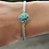 Thumbnail: Black Hills Turquoise and Fine/Sterling Silver Bangle Cuff