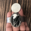 Thumbnail: White Buffalo and Fine/Sterling Silver Hammered Cuff
