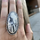 Thumbnail: White Buffalo and Fine/Sterling Silver Ring (size 7.25)