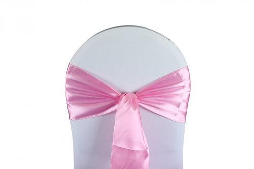 Nœud de chaise satin rose pale 20x260cm