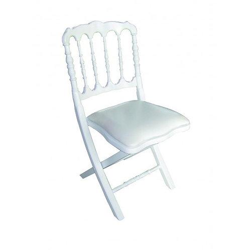 Chaise Napoléon pliable blanche