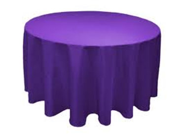 Nappe ronde violette 280cm