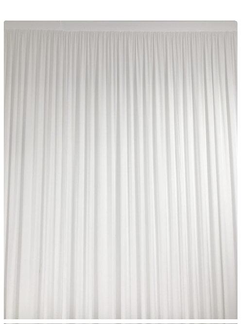 Rideau en lycra blanc plissé 4x3