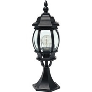 Borne lumineuse extérieure Istria 1 ampoule noir H 510 mm
