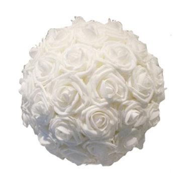 Boule de rose crème 30 cm